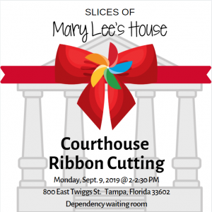 Slice of Mary Lee's House Ribbon Cutting Ceremony